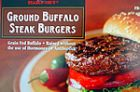 Ground Buffalo Steak Burger