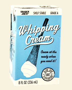 Shelf Stable Grade A Whipping Cream